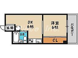 大阪府大阪市北区天神橋8丁目の賃貸マンションの間取り