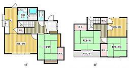 [一戸建] 茨城県取手市台宿2丁目 の賃貸【茨城県 / 取手市】の間取り