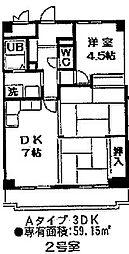 ミュー高麗橋[3階]の間取り