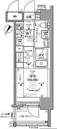 ベルグレード川崎AZ 12階1Kの間取り
