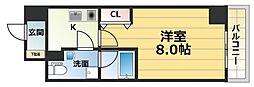 プラディオ徳庵セレニテ[8階]の間取り