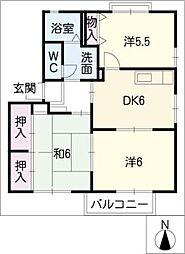 パークサイドK B棟[1階]の間取り
