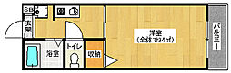京都府京都市下京区西七条御前田町の賃貸アパートの間取り