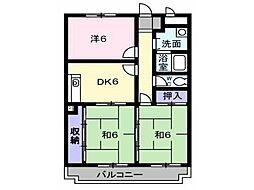 兵庫県神戸市西区玉津町西河原の賃貸マンションの間取り