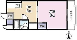 メゾンMORI[302号室]の間取り