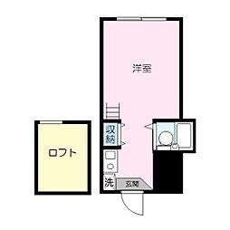 パレス蒔田III[102号室]の間取り