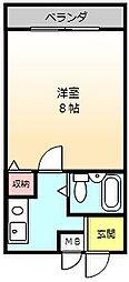 大阪府堺市堺区柳之町西1丁の賃貸マンションの間取り