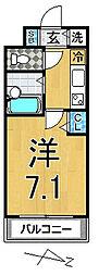 ガリシア江古田[4階]の間取り