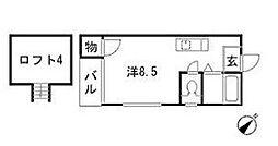 マキシム箱崎九大前[1階]の間取り