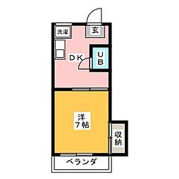 リメイン登呂[1階]の間取り