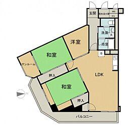 京急西広島マンション[4階]の間取り
