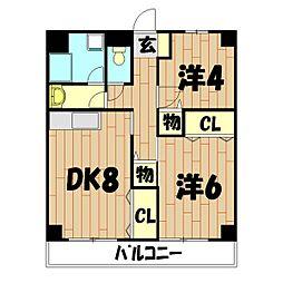 北井マンション[304号室]の間取り