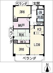 アリイヒルズ覚王山[3階]の間取り