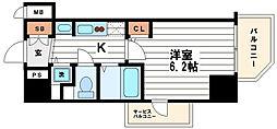 プレサンス心斎橋ルティア[8階]の間取り