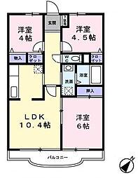 オーシャンビュー3番館 305号室[305号室]の間取り