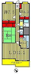 フォレスト早稲田[2階]の間取り