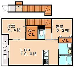 仮)秋松新築アパート[2階]の間取り