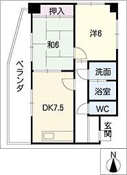 メゾン野菊[6階]の間取り