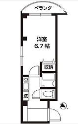 東京都江戸川区西瑞江5の賃貸マンションの間取り