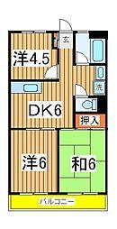 渋谷ビル[505号室]の間取り