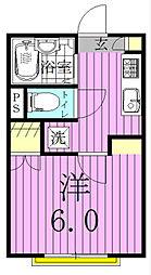 フローラ八潮[203号室]の間取り