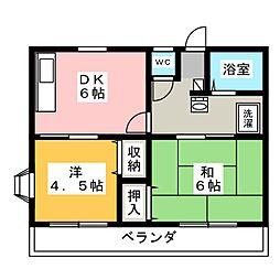 メゾンドパラディII[2階]の間取り