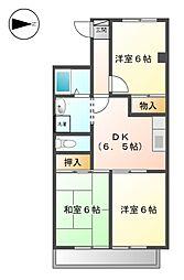 ライフオン生駒 東棟[2階]の間取り