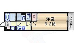 阪急神戸本線 園田駅 徒歩8分の賃貸マンション 1階1Kの間取り
