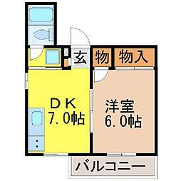静岡県富士市吉原3丁目の賃貸アパートの間取り