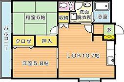 グローハイツII[2階]の間取り
