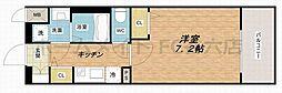 レオンヴァリエ大阪ベイシティ 2階1Kの間取り