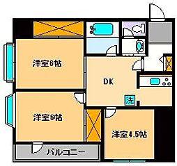 東京都足立区千住宮元町の賃貸マンションの間取り