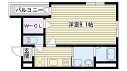 フジパレス鶴見2番館[302号室]の間取り