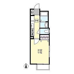 ディマンシュ2[1階]の間取り