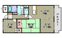 モナークシャトー[4階]の間取り