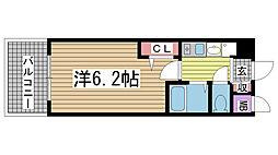 エステムコート神戸ハーバーランド前Ⅲコスタリティ[3階]の間取り