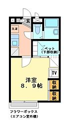 兵庫県加古川市加古川町備後の賃貸アパートの間取り