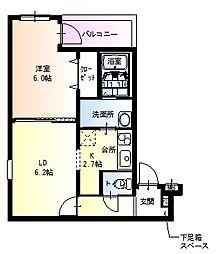 フジパレス南武庫之荘3番館[2階]の間取り