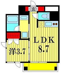 パークフラッツ松戸[12階]の間取り