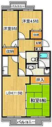 パイン・フレア[3階]の間取り