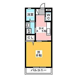 三和伊勢崎3棟[2階]の間取り