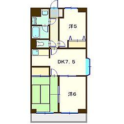 メ・ジャ−モ広町II[2階]の間取り