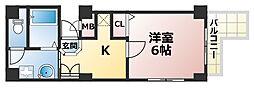 ブロスコート六甲2[7階]の間取り