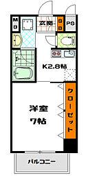 フォーゼ安堂寺[7階]の間取り