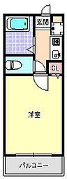 スペースイン田辺[2階]の間取り