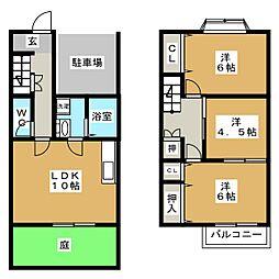 [テラスハウス] 愛知県北名古屋市高田寺出口 の賃貸【/】の間取り