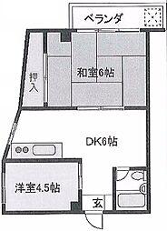 旭ビル21 bt[401号室]の間取り