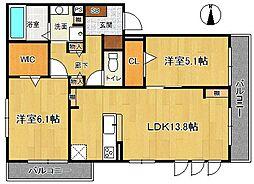 (仮称)荒木町D-room[3階]の間取り