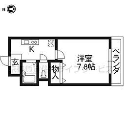 ハピネス神宮道[203号室]の間取り