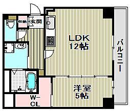 アトリエール堺新町[7階]の間取り